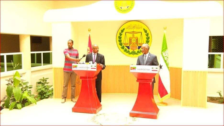 The Foreign Minister of Eritrea visits Hargeisa